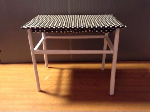 DIY - Como fazer uma mesa para bonecas