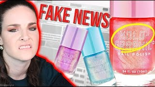 "Is this ""Holographic nail polish"" FAKE NEWS? Sad!"