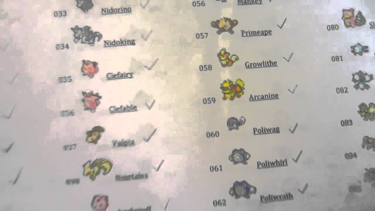 Gorgeous image in printable pokedex