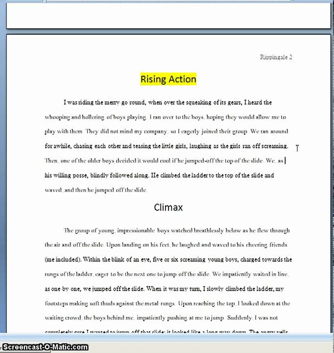 5 Paragraph Narrative Essay