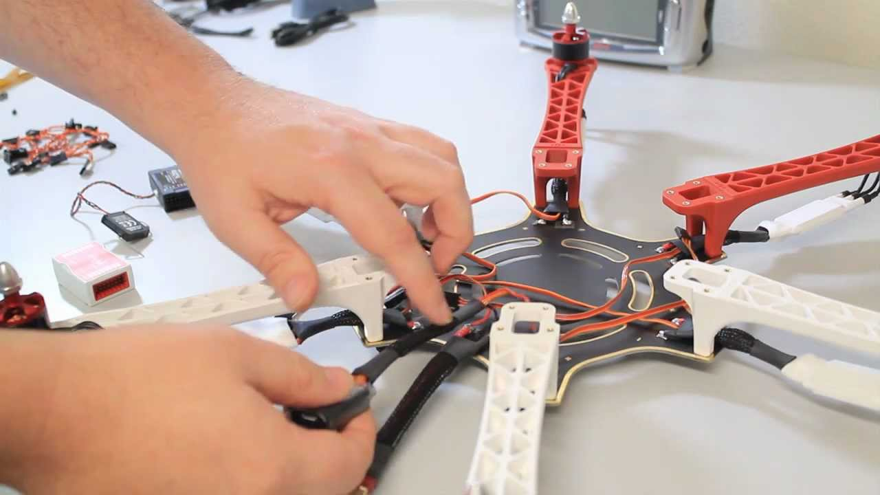 how to build a drone step by step video
