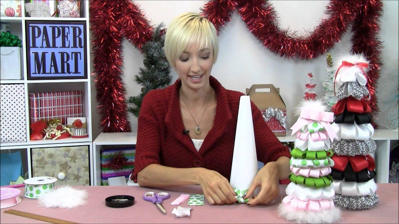 How To Make A Ribbon Christmas Tree Youtube