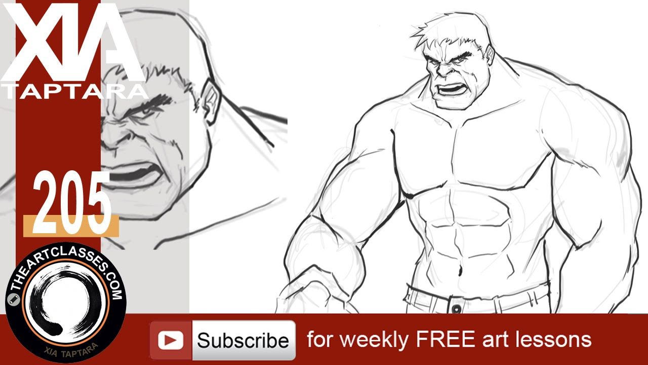 easy hulk drawings - photo #17
