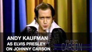 Johnny Carson: Andy Kaufman as Elvis Presley, 1977