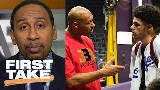 Stephen A. Smith: LaVar Ball knows how to get Lonzo to play better   First Take   ESPN