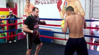 Vanes Martirosyan Training At Glendale Fighting Club