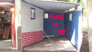 Portable House Homemade Camper RV Bug Out Trailer