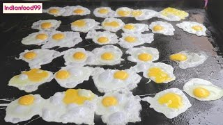 King Of Fried Eggs -  Amazing Fried eggs by Indian street food vendor