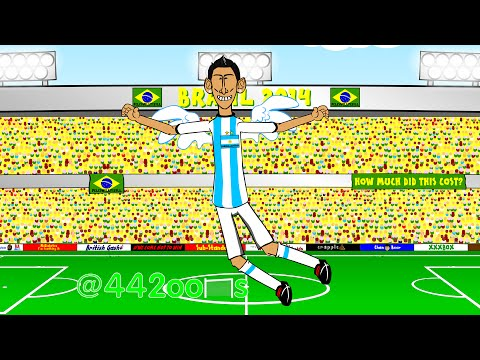 ARGENTINA v SWITZERLAND 1-0 by 442oons (1.7.14 Angel Di Maria World Cup Cartoon)