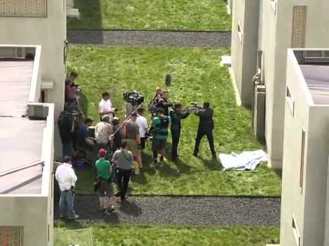 Shailene Woodley, Theo James, Jai Courtney e Mekhi Phifer filmando Divergente!