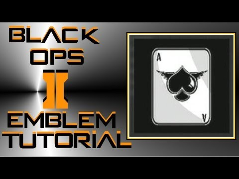 Call of Duty Black Ops 2 : Ace of Spades Card Emblem Tutorial