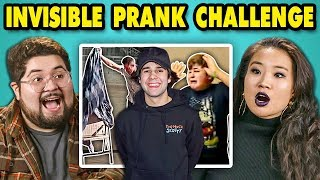 College Kids React to #InvisiblePrank Challenge Compilation
