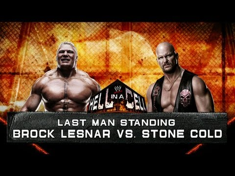 WWE '12 Brock Lesnar vs Stone Cold (HD 1080p)