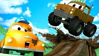 Marley el Jeep Monster Truck - El lavado de Autos de Tom La Grúa 🛀 Dibujos animados