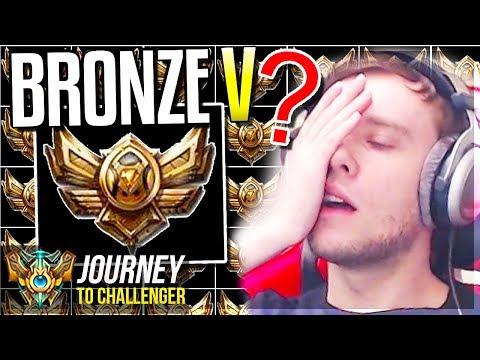 I'VE BECOME BRONZE V ???????????????? - Journey To Challenger - League of Legends