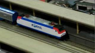 N Scale Railroad Model KTX Sancheon And E-Lok Class 8200