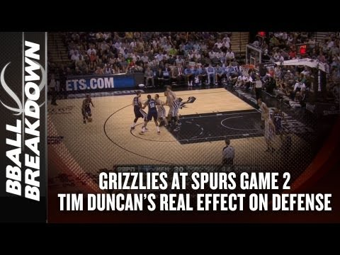 2013 NBA Playoffs: Tim Duncan's Real Effect on Defense - Grizzlies v Spurs Game 2