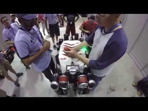 JPL's RoboSimian Arrives at the DARPA Robotics Challenge Finals