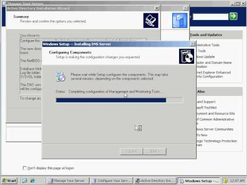 How to Setup Domain Controller and DNS Windows 2003 Server