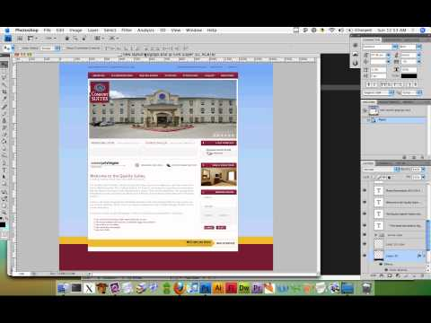 Web Design DeCal Fa10 Class Mini-Project 2 Part 2: .PSD to HTML and CSS - Part 1 of 3