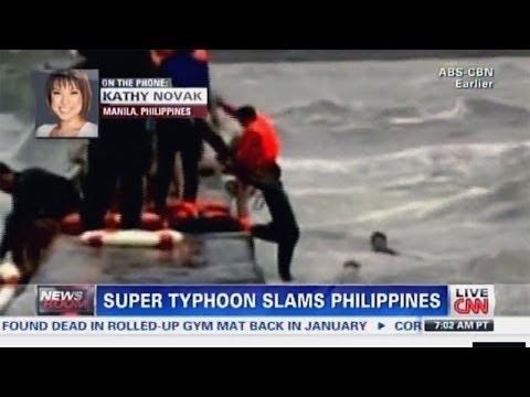 Super typhoon Haiyan yolanda Philippines - DRAMATIC Rescue Caught on camera! [SCARY FOOTAGE]