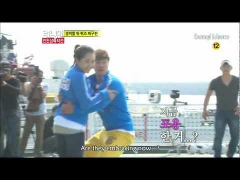 KJK is MGY's Bodygaurd in Dodgeball Game on Running Man Ep. 115 (eng sub)