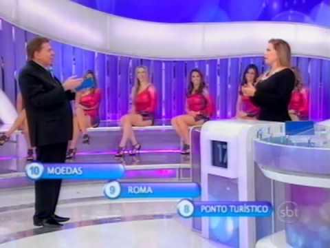 Programa Silvio Santos - Catia Fonseca e Christina Rocha no 3 Pistas