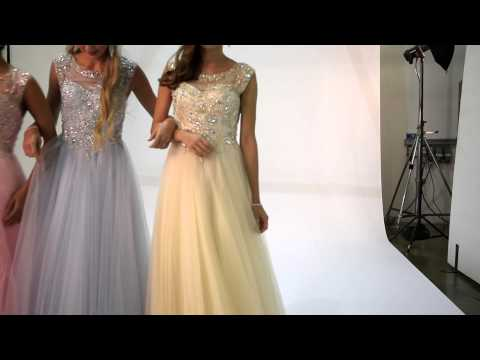 Tiffanys Illusion Prom Pale Pink layered skirt Grace Dress