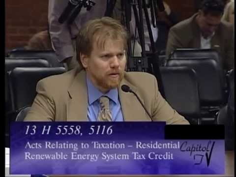 Restoring RI's Renewable Tax Credit, Finance Committee Hearing