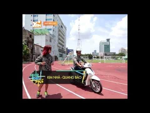 Quang Bảo và Kim Nhã thi nhau chạy bộ