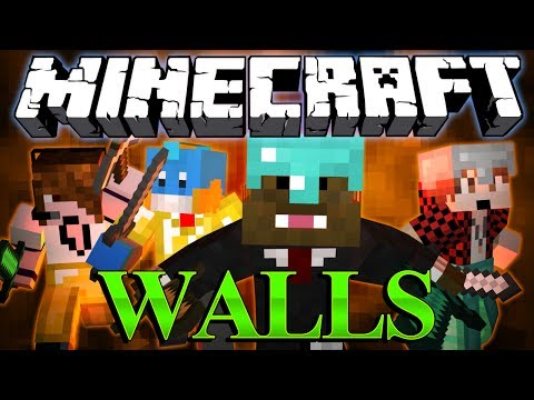 1VS1VS1VS1 SHOWDOWN Minecraft The Walls Minigame w/ BajanCanadian, HuskyMudkipz, and Deadlox