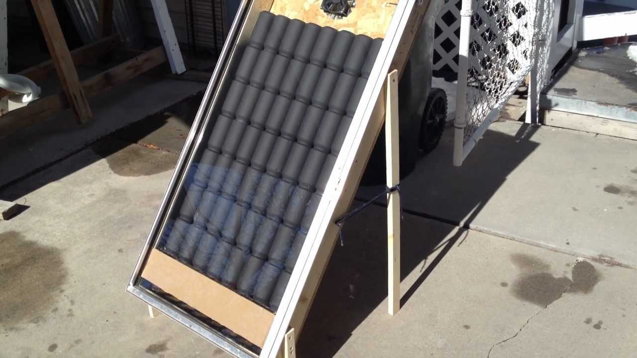 solar aluminum pop can heater youtube