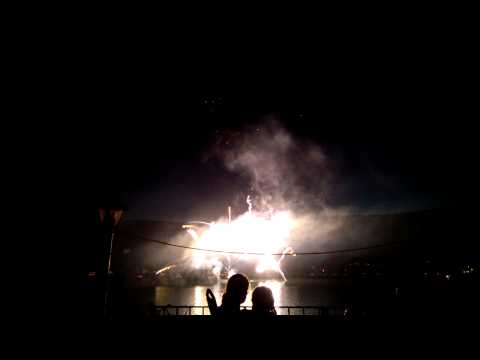Viewing 2014 Fireworks in Greenwood Lake, NY from Dichiara Household on 7/5/2014.