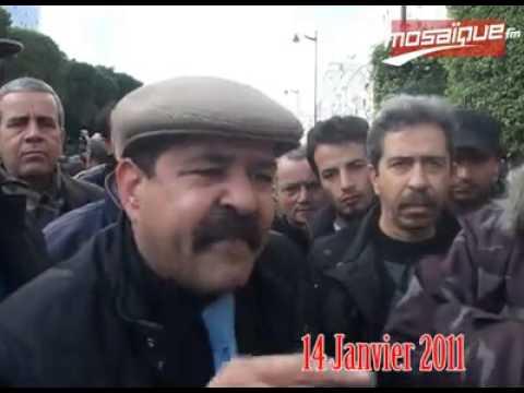 image vidéo ظهور شكري بلعيد في 14 جانفي 2011
