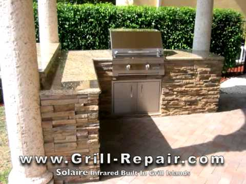 Custom Outdoor Kitchen Pictures With Solaire Infrared Built In Gas BBQ