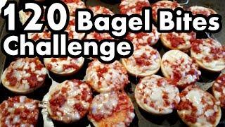 Matt Stonie vs 120 Bagel Bites Challenge