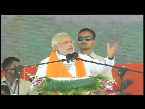 Shri Narendra Modi addressing a massive Rally in Nanded, Maharashtra