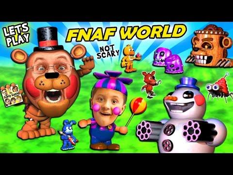 FNAF WORLD = CUTE and SQUISHY!  FGTEEV Duddy & Mike Play a Cuddly RPG Animatronics Not-Scary Game
