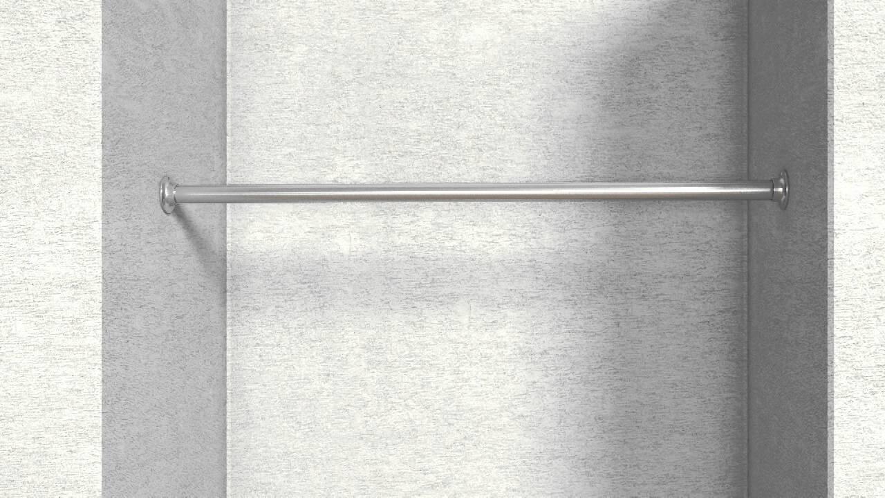 7 montageanleitung edelstahl garderobenstange mit flansch und rohr im set kleiderstange youtube. Black Bedroom Furniture Sets. Home Design Ideas