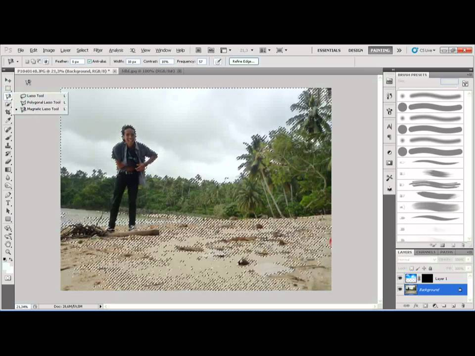 Cara Mengganti Background Foto Dengan Shopwmv Youtube