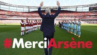 All the angles of Arsene Wenger's emotional farewell speech   #MerciArsene