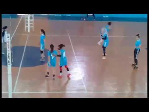 جانب من مباراة فريق فتيات ميدلت لكرة الطائرة ضد فتيات الرشيدية