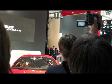Tribute: Michael Schumacher introduces the Ferrari 458 Italia Luca Cordero di Montezemolo