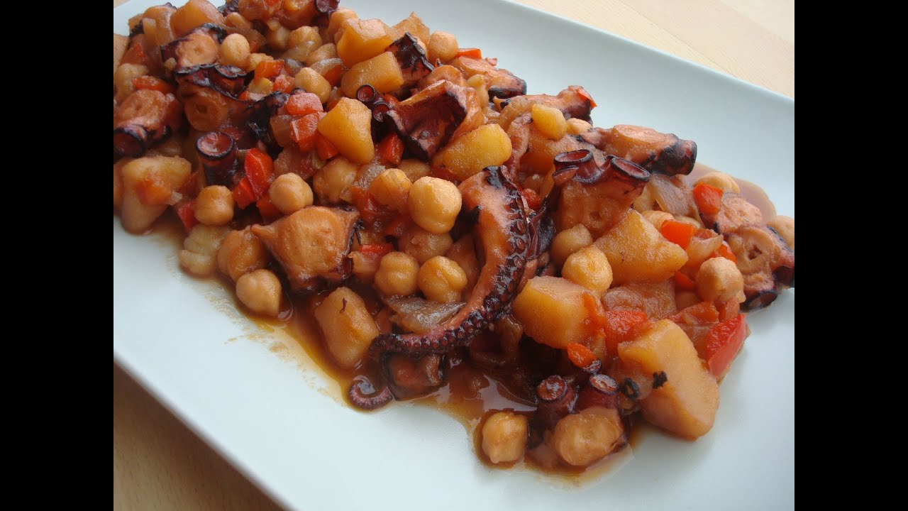 Pulpo Con Garbanzos 142 Cocina En Youtube