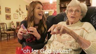 Grandma's HILARIOUS Reaction to Pregnancy Reveal! // Family Pregnancy Reactions!
