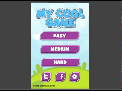 Menu System #3 Template in Gamesalad