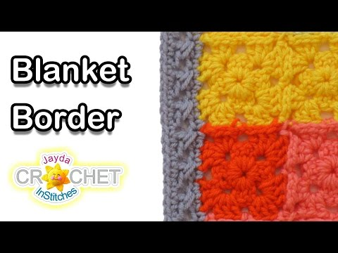Simple and Elegant Crochet Blanket Border