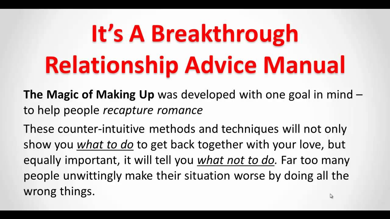 Relationship problems help