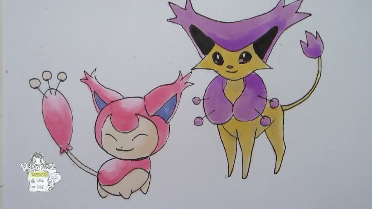 How to draw pokemon no 300 skitty no 301 delcatty youtube - Pokemon skitty ...