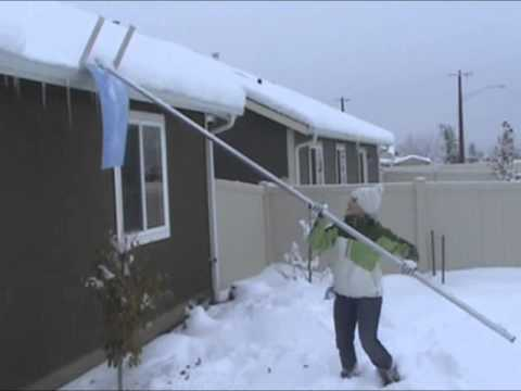 The Snowlance Roof Snow Removal Tool Youtube